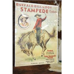 Buffalo Bill Cody Stampede Rodeo Poster