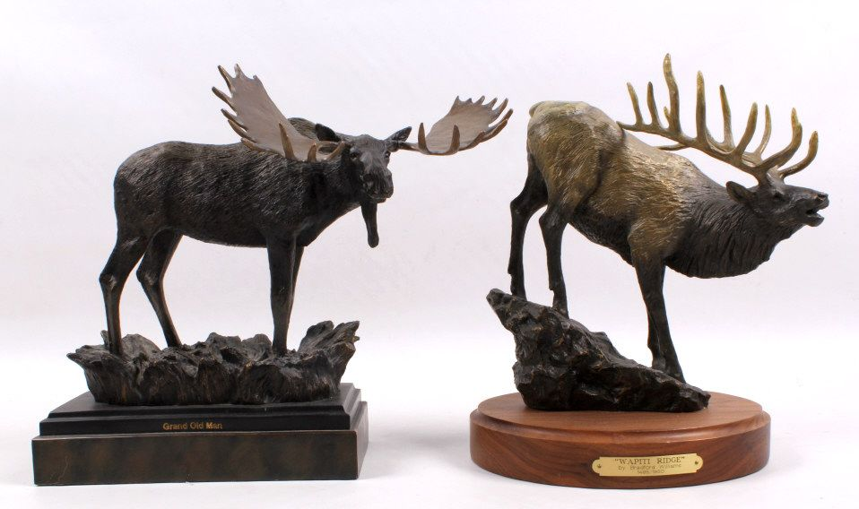 Big sky carvers moose elk sculptures