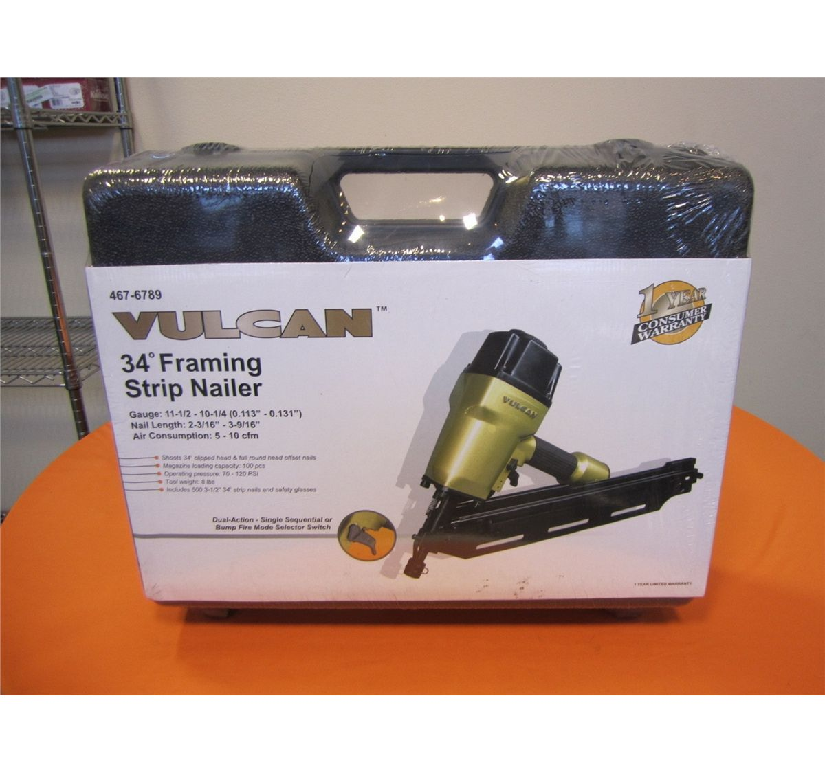 Vulcan ofn3490 framing strip nailer nail gun 34 deg new jeuxipadfo Images
