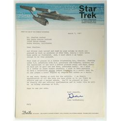 Star Trek (1967) Gene Roddenberry Letter