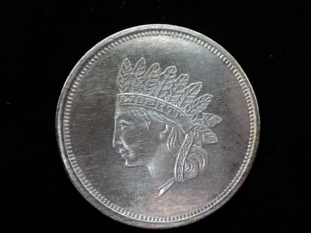 1 Troy Ounce 999 Silver Coin Indian Head Liberty Coin Pid