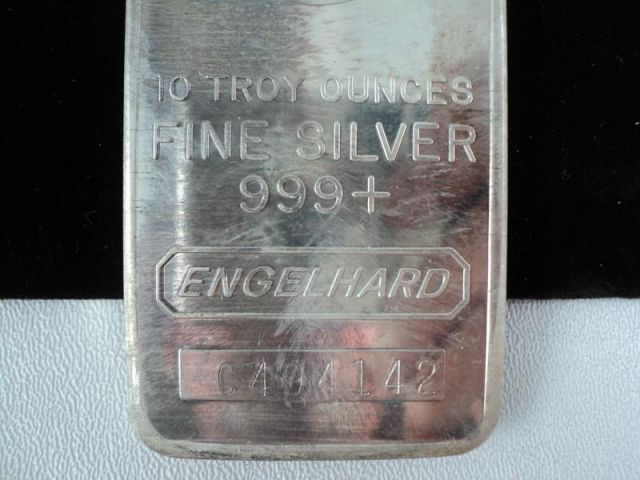 Engelhard 10 Troy Ounces 999 Silver Bars C494142 Pid