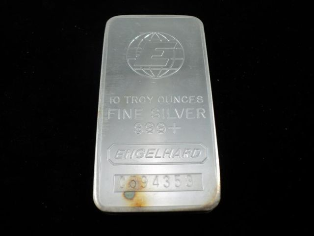 Engelhard 10 Troy Ounces 999 Silver Bar S N C594353 Pid