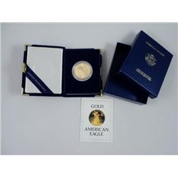 1986 $ 50.00 US Gold Eagle Proof Coin, 1 Troy Ounce Gold PID #: 2716543