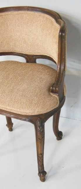 Image 6   Louis XV walnut low back vanity chair  Louis XV walnut low back vanity chair. Low Back Vanity Chair. Home Design Ideas