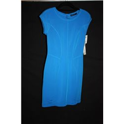 Marccain cap sleeve blue dress, size 4