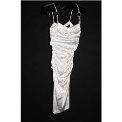 Roberto Cavalli white silk dress, size 4