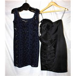 Description Change:Lot [2] DRESSES:  1 Philosophy navy dress and 1 St. Thomas black dress, size 8
