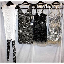 Lot [3] PIECES:  [1] Jovani nude dress, size 6, [1] Jovani sequin nude dress, size 6, [1] Musani Cou
