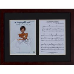 Whitney Houston autographed sheet music