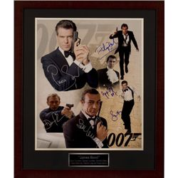 James Bond Poster autographed by all 6 James Bonds