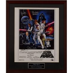 Star Wars Poster autographed by all the stars