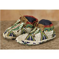 Lakota Beaded Ceremonial Moccasins