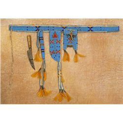 Sioux Child's Set - Knife Case, Awl Case and Bag
