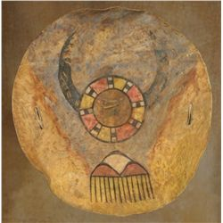 Pueblo Painted Hide Shield