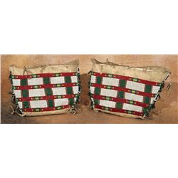 Pair of Arapaho Beaded Teepee Bags
