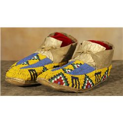 Sioux Youth Beaded Moccasins