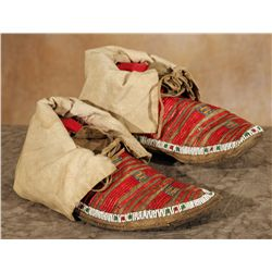 Northern Plains Beaded and Quilled Moccasins