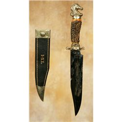 G. Wostenholm and Son Washington Works Bowie Knife and Sheath