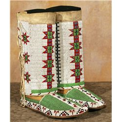 Sioux Beaded Moccasins and Leggings