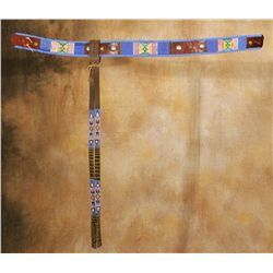 Crow Beaded Belt with Drops