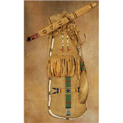 Santee Sioux Woman's Pipe/Medicine Bag with Contents