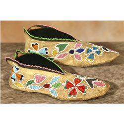 Oto Woman's Beaded Moccasins