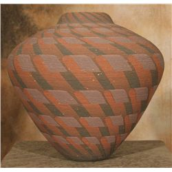 Wyandot Corrugated Jar by Richard Zane Smith