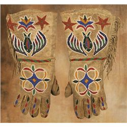 Santee Sioux Beaded Gauntlets