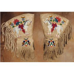 Rosebud Sioux Beaded Gauntlets
