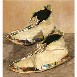 Apache Boy's Beaded Moccasins