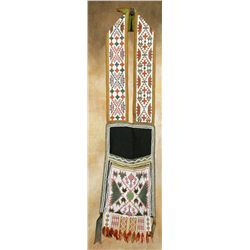 Menominee Loom-Beaded Bandolier Bag