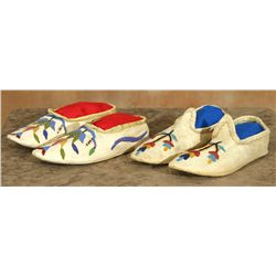 Santee Sioux Beaded Slippers