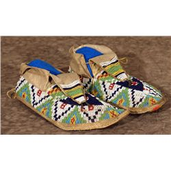 Southern Plains Beaded Moccasins