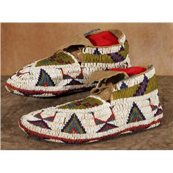 Northern Plains Fully Beaded Ceremonial Moccasins