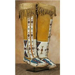 Southern Cheyenne Moccasins and Leggings