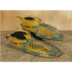 Kiowa Beaded Moccasins