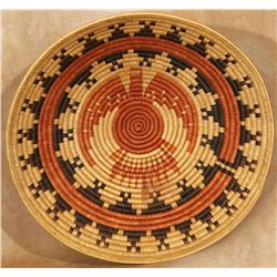 Large Navajo Pictorial Basketry Tray