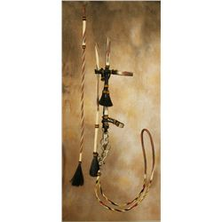 Prison Made Hitched Horsehair Bridle and Quirt