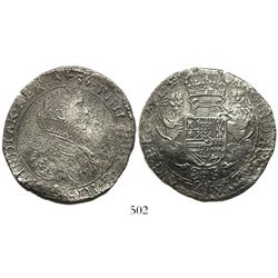 Flanders (Bruges mint), Spanish Netherlands, portrait ducatoon, Philip IV, 1635, rare.