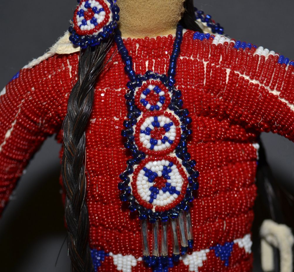 Choctaw Beads: CHOCTAW BEADED DOLL