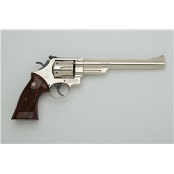 "Smith & Wesson Model 57 DA revolver, .41  Magnum cal., 8-3/8"" barrel, nickel finish,  checkered comb"