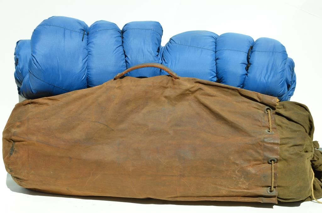 Image 1  Large canvas tent in heavy canvas bag 2 sleeping bags; for ... & Large canvas tent in heavy canvas bag 2 sleeping bags; for the ...