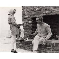 Steve McQueen and Faye Dunaway Rare Candid Custom Print from The Thomas Crown Affair