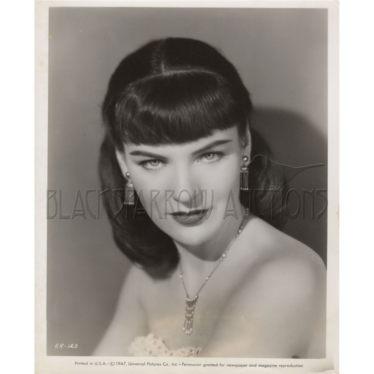 ella raines collection of 4 original portraits from time