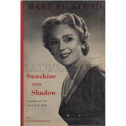 Mary Pickford Autobiography Sunshine and Shadow Signed Book