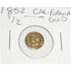 1852 CALIFORNIA GOLD 1/2 DOLLAR COIN!! COIN CAME OUT OF SAFE!!