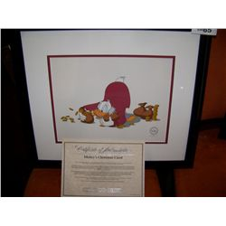 DISNEY ORIGINAL SERICEL MICKEY'S CHRISTMAS CAROL LIMITED EDITION OF 5,000. FRAMED