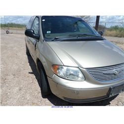 2002 - CHRYSLER TOWN AND COUNTRY  // REBUILT SALVAGE