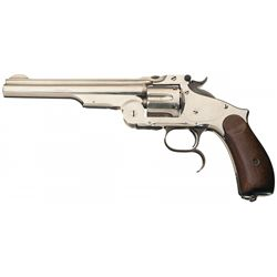 "Spectacular Smith & Wesson Third Model Number Three Russian Revolver with ""REISSUE"" Markings"
